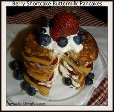 Strawberry Shortcake Pancakes (THE BEST PANCAKES EVER!!) ~Satisfying Eats