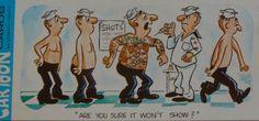 Naval Cartoon Vintage Postcards ADULT Humor CrestCraft by bloomdar