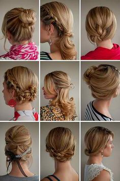 Updos... Im so ready for my hair to be long so I can have really cute hair that is different everyday!