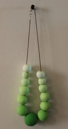 Ombre polymer clay beaded necklace -Ombre series- 20.00