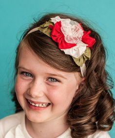 Another great find on #zulily! Red & Ivory Vintage Lace Flower Headband by Snugars #zulilyfinds