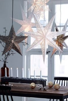 Christmas Decor Inspiration Jul Star Ornaments