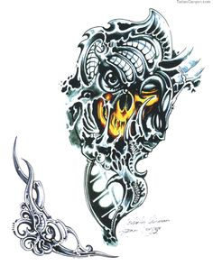 Full Size More Tattoo Gallery Dark Evil Skull Skeleton Tattoos picture 4907