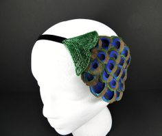 Have green beads, get some bird paradise. ALady. Art Deco Headpiece Great Gatsby 20s Flapper Daisy by FlowerCouture, $35.00