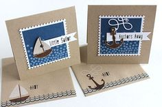 Little Sailor & Anchors Away Cards by Heather Nichols for Papertrey Ink (June 2015)