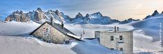 Cabane du Trient, Glacier de Trient Valais Suisse. HDR