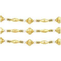 9 Foot Garland With Gold And Clear Finial Shaped Beads