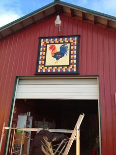 Rooster on barn