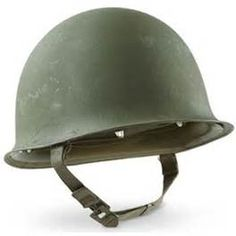 The US M1 helmet replace the 1917 Brodie (Tommy Tin) in 1941 and 22 million produced by the end of WW2. The M1 helmet consisted of 2 parts outer shell and inner hard hat type liner. It was a one size fits all design that was used for over 40 years, until replaced in 1985 by the PASGT helmet. The M1 mainly only changed straps and coverings during its use from WW2, Korea, Vietnam and other conflicts.