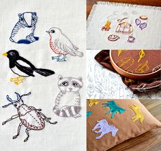 woodland contemporary embroidery patterns