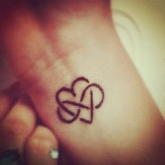 Heart and infinity tattoo