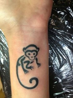 Monkey tattoo done at Classic ink & Mods, Amsterdam by francis