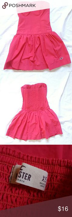 """Hot Pink HOLLISTER Mini Dress XS Hot Pink HOLLISTER Mini Dress! Excellent condition! No signs of wear. Size XS   Measurements  Chest 13-14"""" stretched Waist 13"""" Full Length 23"""" Hollister Dresses Mini"""