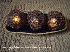 grapevine balls with lights | Fall Crafts And Autumn Decor For Seasonal Home Decorating
