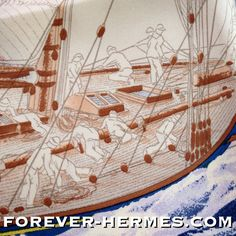 The human fascination with the Ocean the tropical paradise, vacation, travel Sea Yachting Caribbean Bora Bora Tahiti and other gorgeous places of our planet: artist Yannick Manier creates for Hermes Paris this silk canvas titled En Course, now in our store http://forever-hermes.com #ForeverHermes featuring a #yachting competition in stunning & delicate detail. #nautical #vessel #ship #boat #sailboat #sailing #mensfashion #MensSuit #mensnecktie #womensfashion #Hermes #HermesParis #HermesScarf