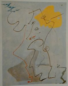 194. André Masson, Les Chavaliers, 1927, m 0,92x0,73 tela Milano Collezione G Rossi