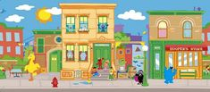 sesame street buildings | ... Grouch, Count Von Count, Elmo, Zoe, Bert and Ernie from Sesame Street