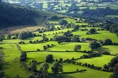 Shadows passing over the green pastures of the Welsh countryside. Fern Hill, Emerald Isle, Photography Gallery, British Isles, Welsh, Great Britain, Cottages, Shadows, Countryside