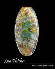 Glass bead by Lisa Fletcher.