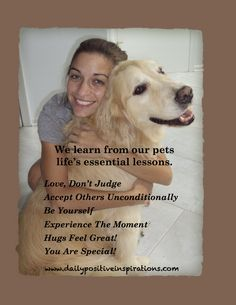 We can learn life lessons from our pets! http://www.lifehack.org/articles/lifestyle/learn-fromyour-pets-and-get-healthier-too.html