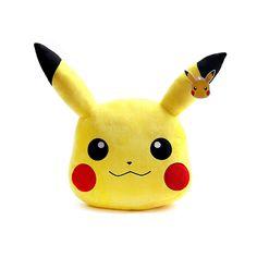 "Authentic Pokemon XY Character Pikachu Face Cushion 40cm 16"" 50cm 20"" Plush Doll #Pokemon"