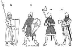 Typical Hebridean Norse Gaelic fighting men with their equipment. Medieval Armor, Medieval Fantasy, Norman Knight, Eslava, Highlands Warrior, Irish Warrior, Knight Art, Old Norse, Knights Templar