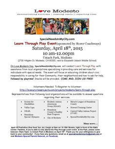 On Love Modesto Day, April 18th, Teaching Children Civic Responsibility Through Play At Park! http://wp.me/p5FzkV-1ha