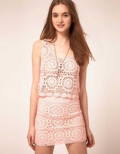 Pink Tank top and Skirt from ASOS