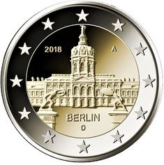 Detailed image and information about 2 euro coin Berlin: Schloss Charlottenburg from Germany issued in The coin is part of series Commemorative 2 euro coins. Visit the best collector and commemorative coin website: The Collector Coins. Euro Währung, Piece Euro, German Coins, Money Notes, Euro Coins, Silver Certificate, Foreign Coins, Valuable Coins, Coin Design