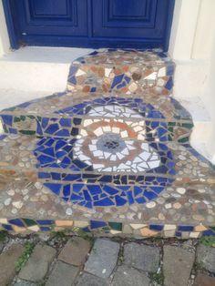 Bozcaadaaaa Stepping Stones, Mosaic, Outdoor Decor, Home Decor, Stair Risers, Interior Design, Mosaics, Home Interior Design, Home Decoration