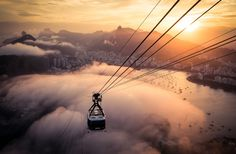 Sugarloaf mountain, Rio - 2016, Rio de Janeiro, Sugarloaf mountain. Was really fortunate with the amazing clouds sweeping over at Sugarloaf mountain during sunset.