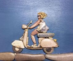 Billedresultat for stone art by stefano furlani Pebble Pictures, Stone Pictures, Stone Crafts, Rock Crafts, Mago Tattoo, Art Plage, Pierre Decorative, Art Rupestre, Art Pierre