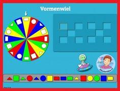 Vormenwiel met kleuters op digibord of computer 1, kleuteridee / Shape Game for preschoolers in IWB or computer