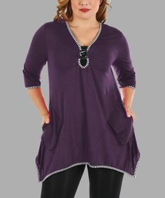 Another great find on #zulily! Purple Sidetail Tunic - Plus #zulilyfinds