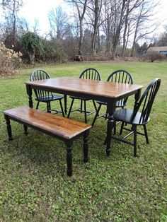 Heir and Space - Classic oak dining set with bench