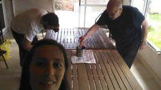 Reciclando la mesa del quincho