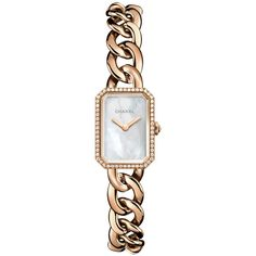 Chanel Premiere h4411 Watch ($17,050) ❤ liked on Polyvore featuring jewelry, watches, chanel watches, polish jewelry, chanel, chanel jewelry and chanel jewellery