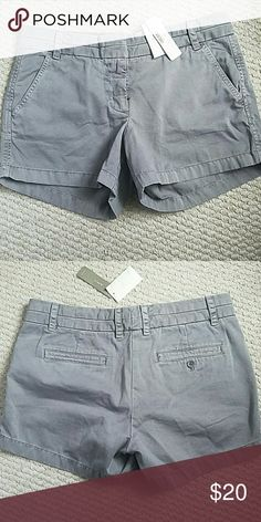 NWT J. Crew shorts Storm Grey 6 Brand new. 4 inch inseam. Size 6 J. Crew Shorts