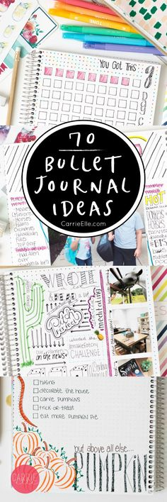 Bullet Journal Ideas - more than 70 ideas to inspire you to get journaling!