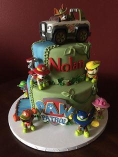 Paw Patrol Jungle Rescue Birthday Cake