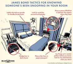 James Bond's Tactics for Figuring Out If Someone's Been Snooping in Your Room | The Art of Manliness Survival Life Hacks, Survival Prepping, Survival Skills, Survival Gear, Wilderness Survival, Survival Quotes, Survival Tattoo, Survival Weapons, Survival Equipment