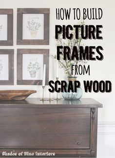 Using scrap wood, a Kreg Pocket Hole Jig System, and stain, I show how to create 4, 8x10 rustic frames.