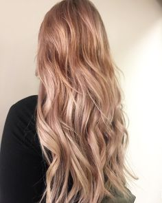 Pretty pink rose gold mermaid waves by Aveda Artist Alessandra.