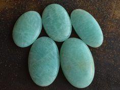 5 Pcs Natural Amazonite Cabochon Gemstone,Handmade Rare Gemstone,Jewelry Making Genuine Wholesale Gemstone#8622 by dhorgems on Etsy