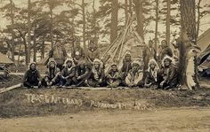 Penobscot and Passamaquoddy group from Old Town, Maine at Plymouth, Massachusetts for the Plymouth Tercentenary Celebrations - 1921