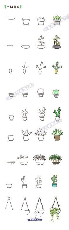 draw cactus Más