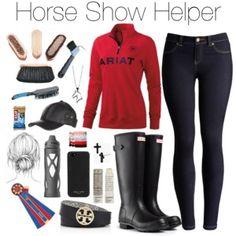 Horse show helper