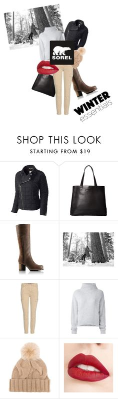 """Tame Winter with SOREL: Contest Entry"" by realaaf ❤ liked on Polyvore featuring SOREL, J Brand, Le Kasha, Loro Piana, Jouer and sorelstyle"