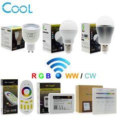 MiLight RGBW LED Ampoule Lumière AC86-265V GU10 5 W/E27 6 W 9 W RGBWW/RGBCW Télécommande Éclairage intelligent