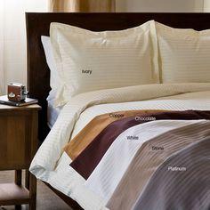 Egyptian Cotton 1000 Thread Count 3-piece Damask Stripe Luxury Duvet Cover Set